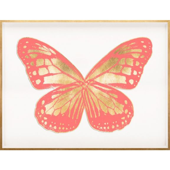 Butterfly Royale, Pink 2 Framed