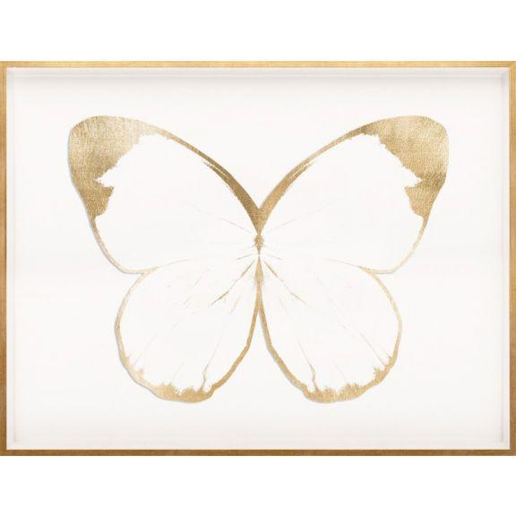 Butterfly Royale, White 2 Framed