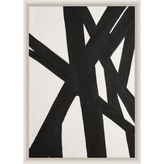 Black & White Abstract Painting 2