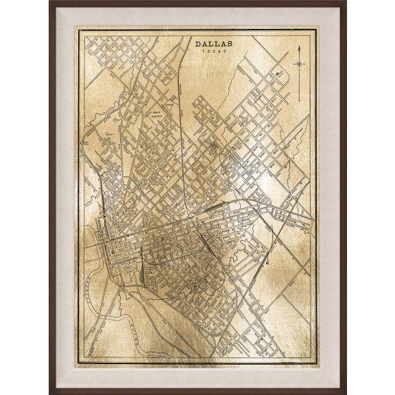 Dallas Map, Gold