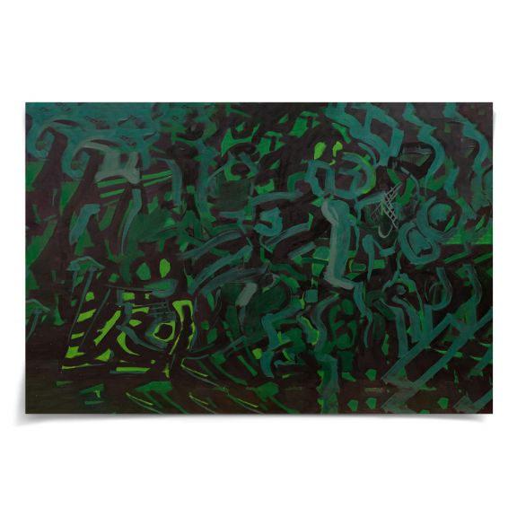 "David Kronen Modern Abstract No. 49: Unframed Ready to Ship 60x40"""