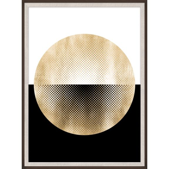 Halftone Circle, Gold