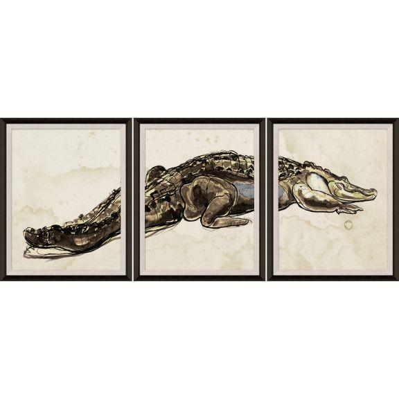 Hanriout Giraud Alligator Triptych 1