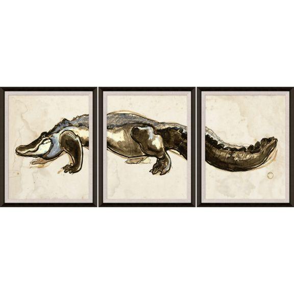 Hanriout Giraud Alligator Triptych 2