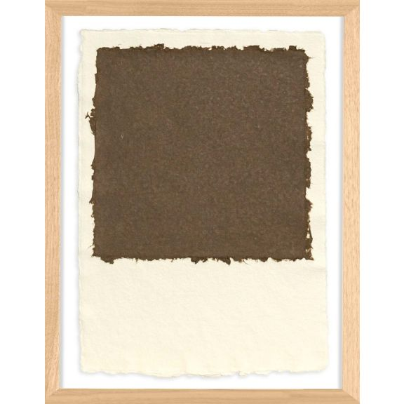 Handmade Paper Color Theory 2; Dark Brown