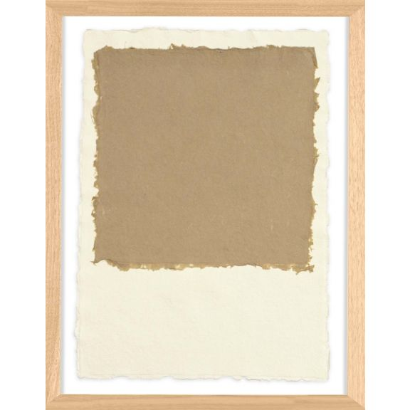 Handmade Paper Color Theory 2; Light Brown