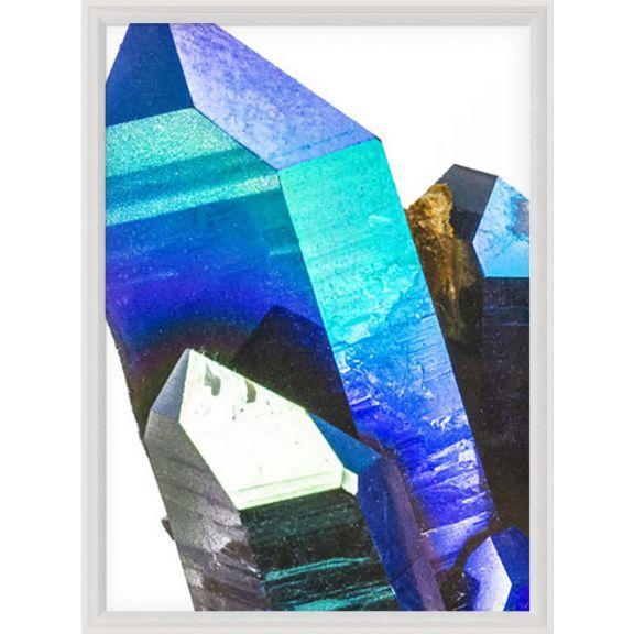 Iridescent Geode Triptych No. 1