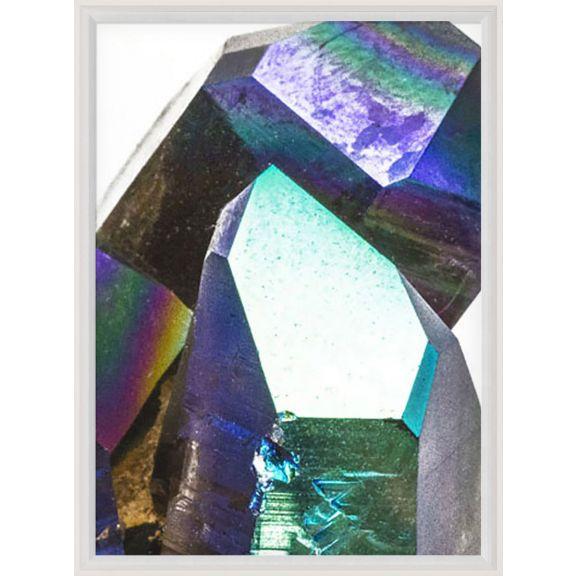 Iridescent Geode Triptych No. 3