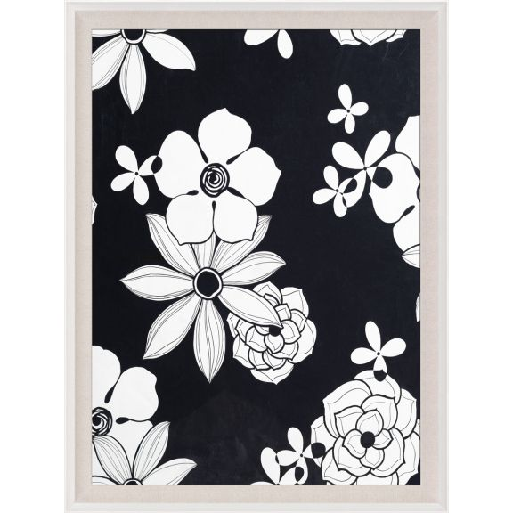 Modern Paradise, Black and White Modern Flowers