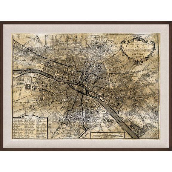 Paris Map, Gold