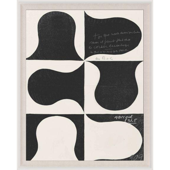 Paule Marrot, Black & White Abstract Series 2, 1