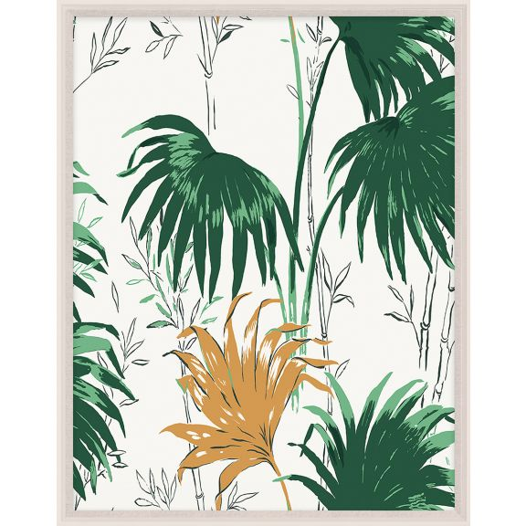 Paule Marrot, Green and Yellow Palm Leaves 1
