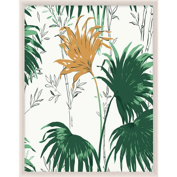 Paule Marrot, Green and Yellow Palm Leaves 2