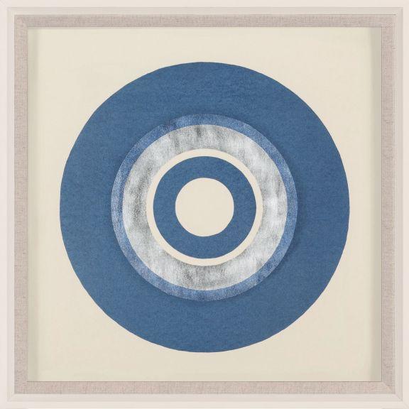 Silkscreen Portals, Denim Blue