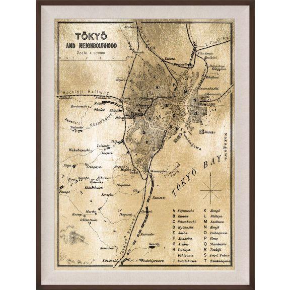 Tokyo Map, Gold