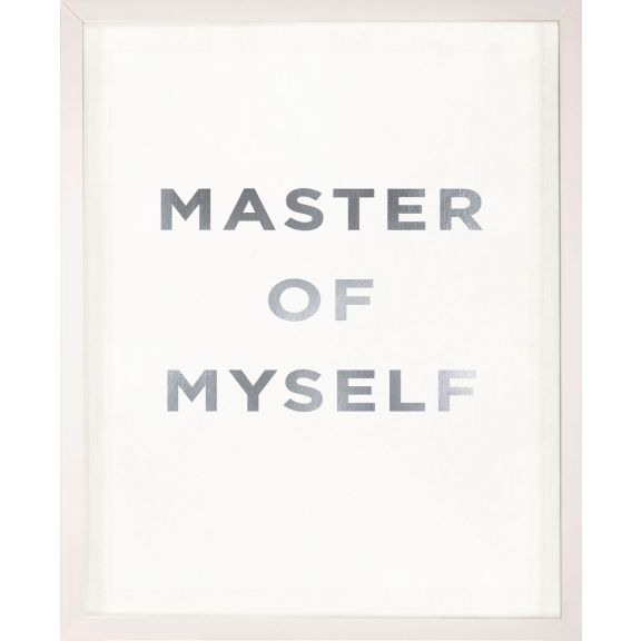 """Master of Myself"" Silver Leaf Quote"