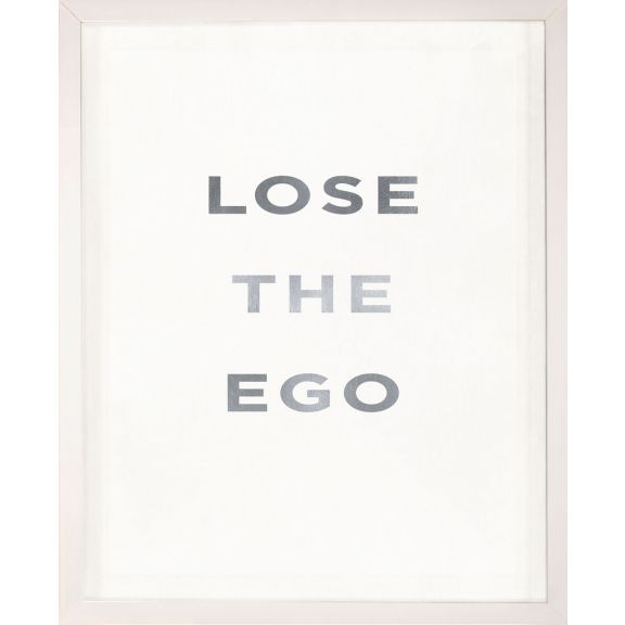 """Lose the Ego"" Silver Leaf Quote"