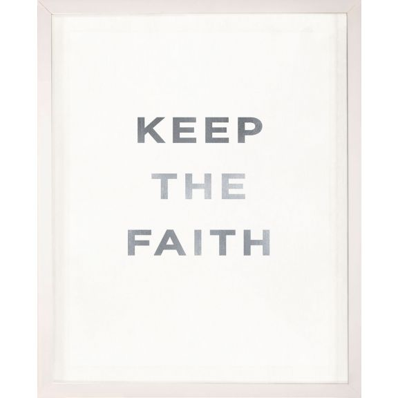 """Keep the Faith"" Silver Leaf Quote"