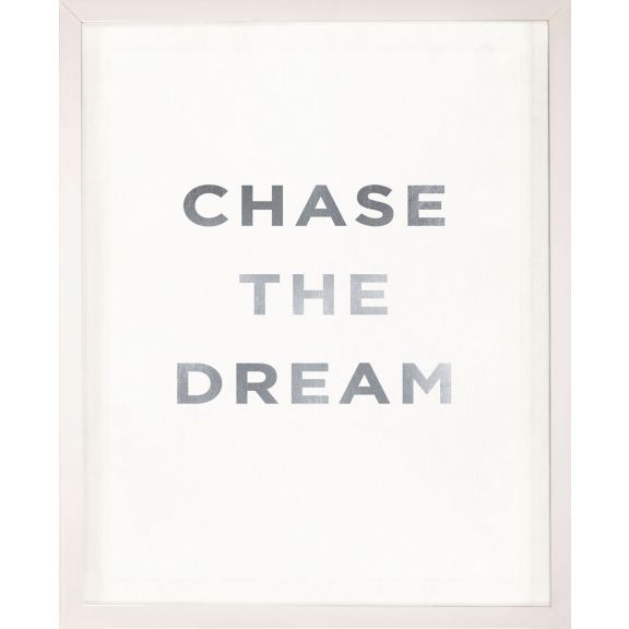 """Chase the Dream"" Silver Leaf Quote"