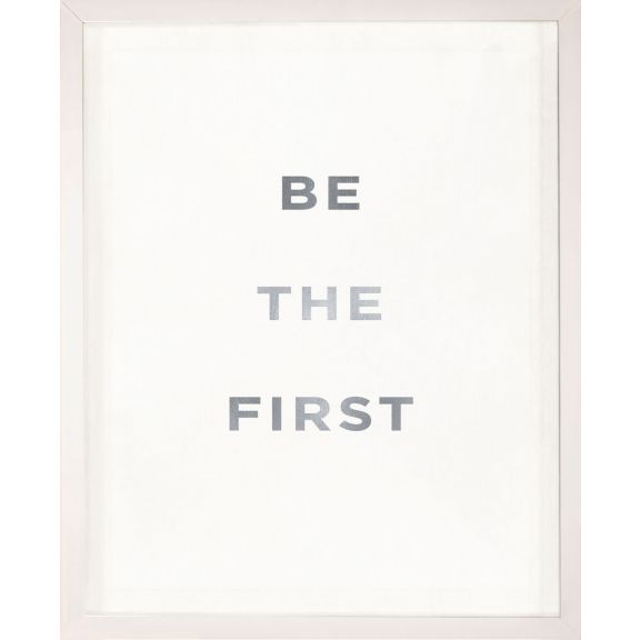 """Be the First"" Silver Leaf Quote"