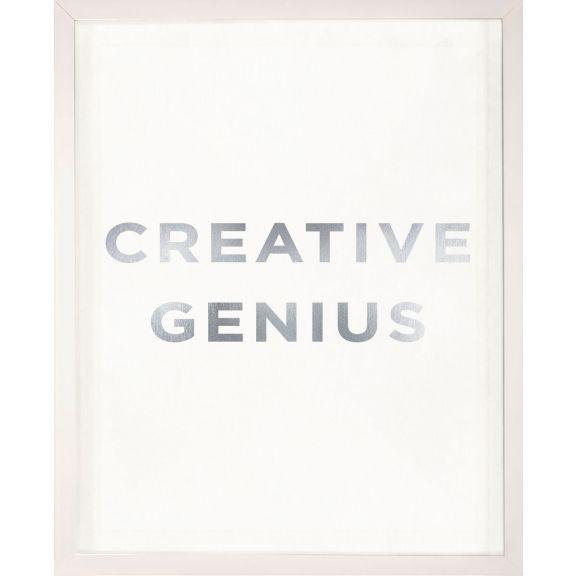 """""""Creative Genius"""" Silver Leaf Quote"""